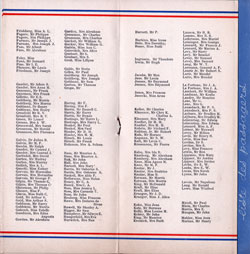 1934-04-15 Good Will Tour to France Passengers Panel 2 of French Line Ile de France Passenger List