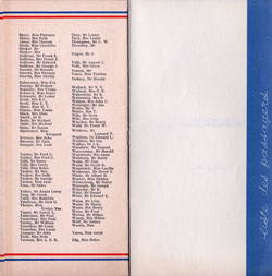 1934-04-15 Good Will Tour to France Passengers Panel 4 of French Line Ile de France Passenger List