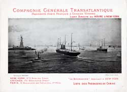 1891-04-25 Ships List for the S.S. LaGascogne