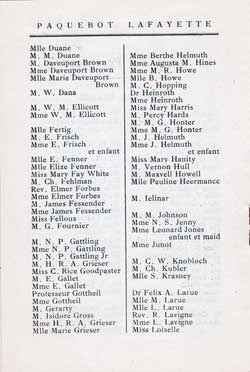 List of First Class Passengers, Page 2