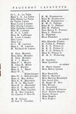 List of First Class Passengers, Page 3