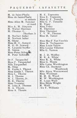 List of First Class Passengers, Page 4