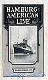 1927-07-06 Ships List for the S.S. Albert Ballin
