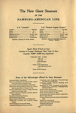 The New Giant Steamers of the Hamburg-American Line (1907)