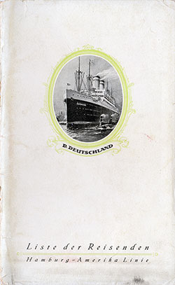 1927-08-12 Passenger Manifest for the S.S. Deutschland