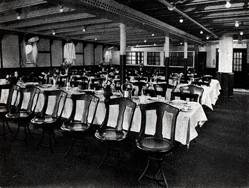 Corner of the Third-Class Dining Room on the S.S. Deutschland