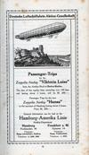 "Passenger Trips by the Zeppelin Airship ""Viktoria Luise and ""Hansa"""