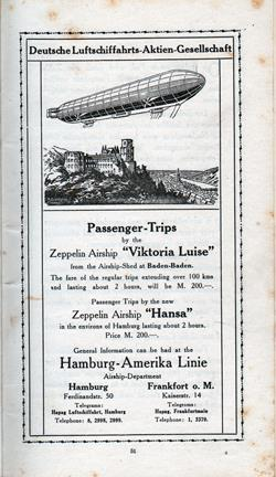 "Zeppelin Airships ""Viktoria Luise"" and ""Hansa"""