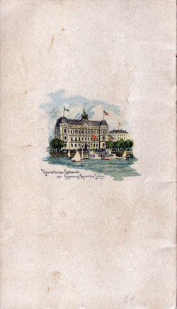 Back Cover of Passenger List, S.S. Pennsylvania, Hamburg-American Line, August 1906