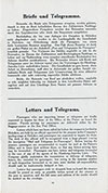 Letters and Telegrams