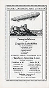 Zeppelin Passenger Trips Ad (in German)