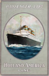 Passenger Manifest, Holland America Line S.S. Rotterdam - April 1924 - Front Cover