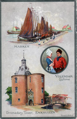 Passenger List Back Cover, September 1929 Westbound Voyage - T.S.S. Volendam