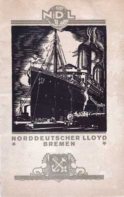 1923-04-07 Ships List for the S.S. Bremen