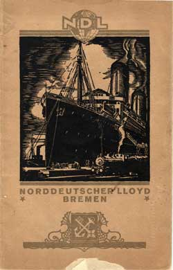 1923-07-21 Ships List for the S.S. Bremen