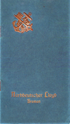 Front Cover, Passenger List, S.S. Grosser Kurfürst, Norddeutscher Lloyd, April 1909, Genoa to New York