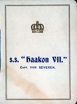 1913-07-15 Ships List for the S.S. Haakon VII