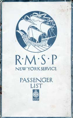 1923-12-19 Passenger Manifest for the S.S. Orca