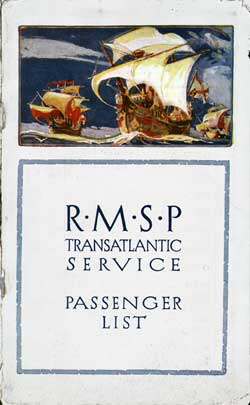 1924-07-06 Passenger Manifest for the S.S. Orca