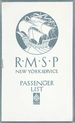 1922-07-26 Passenger Manifest for the S.S. Orduña