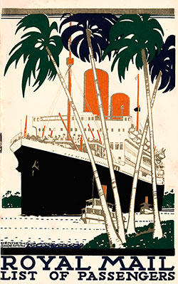 1935-06-01 Ships List for the S.S. Asturias