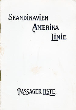 1916-11-14 Passenger Manifest for the S.S. Frederik VIII