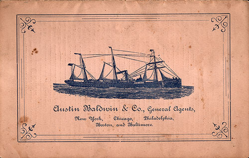 Back Cover, Passenger List SS State of Pennsylvania 28 June 1883