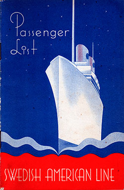 1946-07-09 Passenger Manifest for the SS Drottningholm