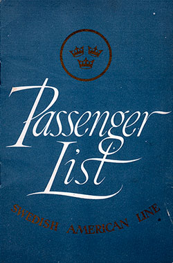 1950-06-21 Passenger Manifest for the SS Gripsholm