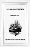 1923-10-19 Ships List for the S.S. President Arthur