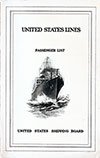 1923-07-18 Ships List for the S.S. President Van Buren