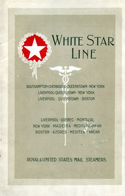 Passenger Manifest, RMS Adriatic, White Star Line, November 1919, Southampton to New York