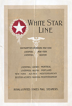 Passenger List, R.M.S. Baltic, White Star Line, December 1917, Liverpool to New York