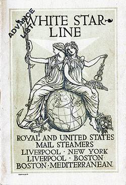 Passenger List, S.S. Celtic, White Star Line, August 1904, Liverpool to New York