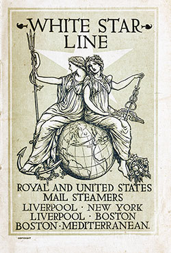 Passenger Manifest, S.S. Cretic, White Star Line, July 1904, Liverpool to Boston