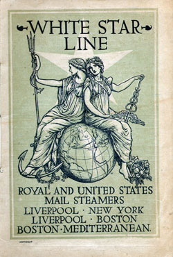 Passenger List, S.S. Cretic, White Star Line, July 1904, Liverpool to Boston