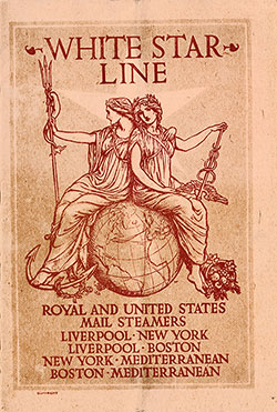 Passenger List, White Star Line S.S. Cymric, 1906, Liverpool to Boston