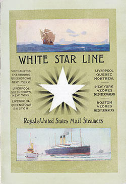 Passenger Manifest, SS Cymric, White Star Line, July 1910, Liverpool to Boston