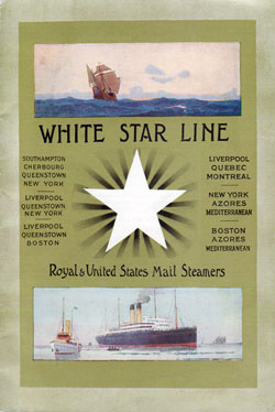 Passenger List, S.S. Cymric, White Star Line, July 1910, Liverpool to Boston