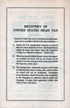 Recovery of United States Head Tax