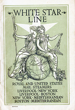 Passenger Manifest, SS Majestic, White Star Line, August 1905, Liverpool to New York
