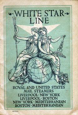 Passenger Manifest, S.S. Majestic, White Star Line, August 1905, Liverpool to New York