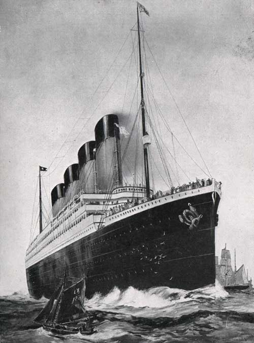 "R.M.S. ""OLYMPIC"" TRIPLE-SCREW	- 46,439 TONS"
