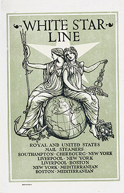 Passenger List, S.S. Oceanic, White Star Line, November 1907, Southampton to New York