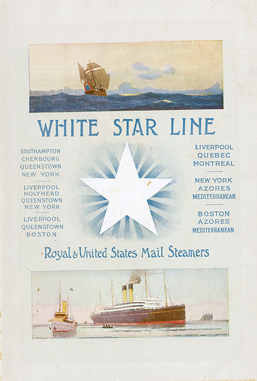 Front Cover of a Passenger List