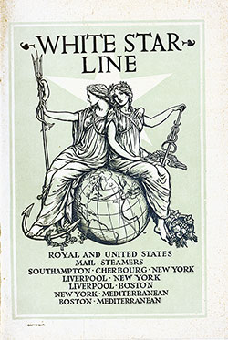 Passenger Manifest, S.S. Republic, White Star Line, August 1907, Liverpool to Boston