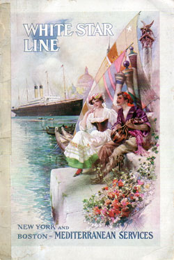 Passenger List, S.S. Romanic, White Star Line, October 1908, Genoa and Naples to Boston