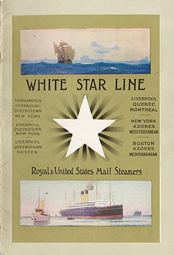Passenger List, S.S. Teutonic, White Star Line, September 1910, Southampton to New York