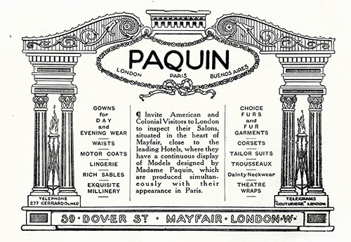 Paquin Gowns for Day and Evening Wear