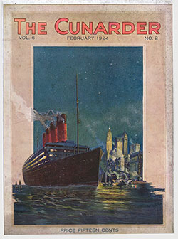 Front Cover, 1924-02 The Cunarder, Prague - The City of Legends